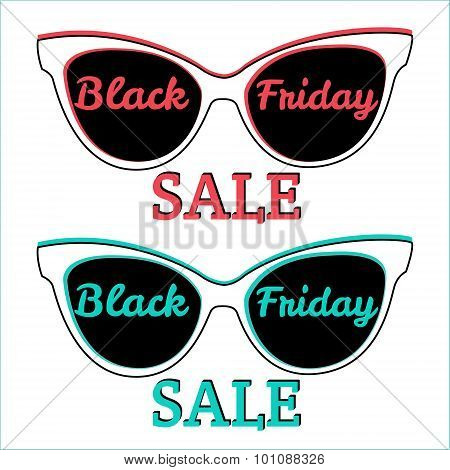 Vector Icon Badge Black Friday Sale. Sunglasses, Black Friday