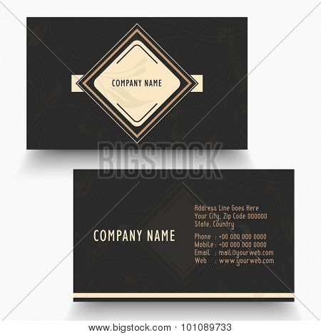 Horizontal business card or visiting card for your profession and company.