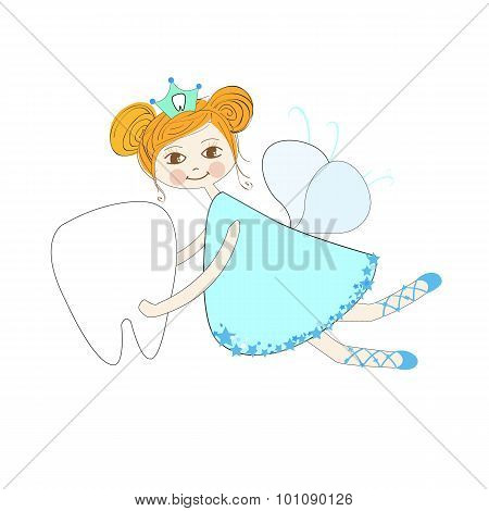Toothfairy vector background