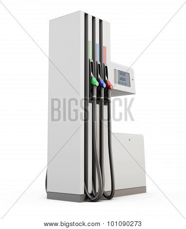 Petrol Pump Under The White Background
