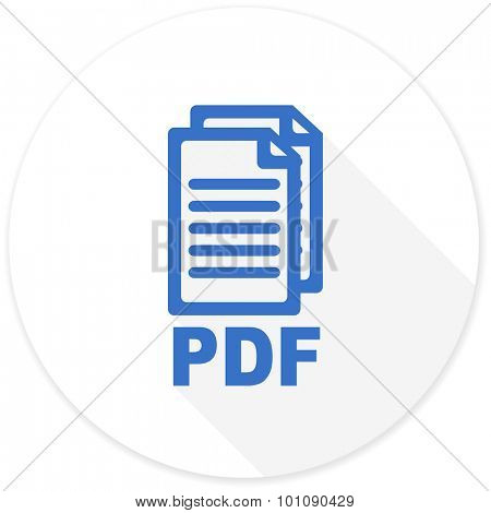pdf flat design modern icon with long shadow for web and mobile app,