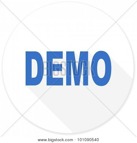 demo flat design modern icon with long shadow for web and mobile app
