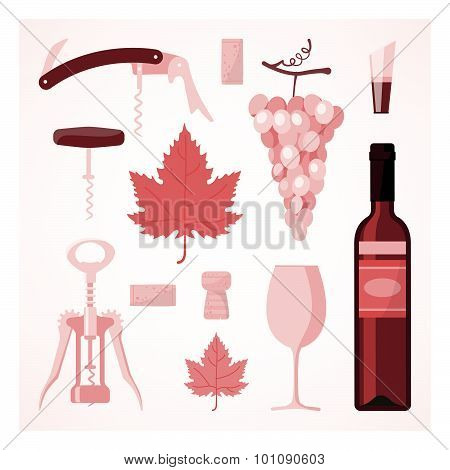 Red Wine Vintage Illustration