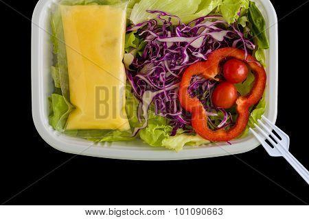 Salad Box Background / Salad Box / Salad Box On Black Background