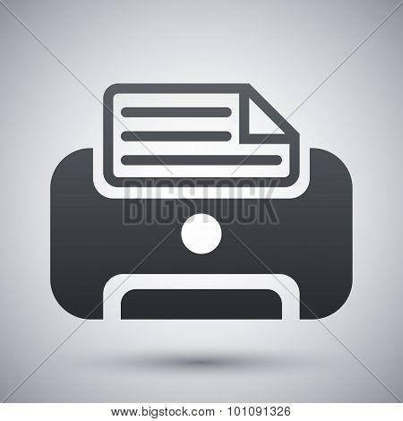 Vector Printer Icon