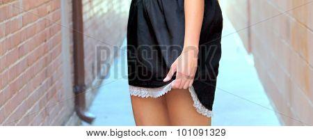 Female fashion model.