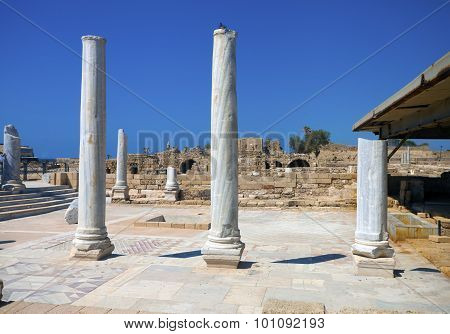 Marble Columns In The Ruins