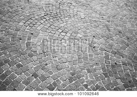 Cobblestone Road Pavement. Background Texture