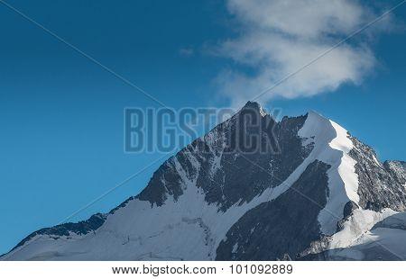 Peak Bernina Peak In The Swiss Alps