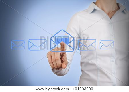 Email Concepts Touching on Visual Screen