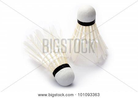 Overused badminton shuttlecock