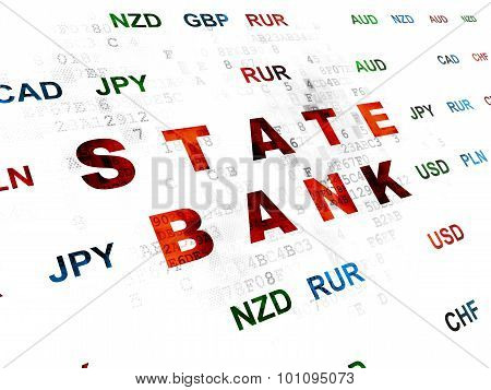 Currency concept: State Bank on Digital background
