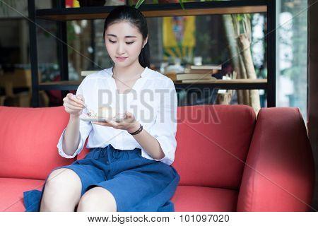 Chinese Dessert In Girls