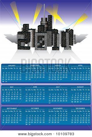 2011 Big City Calendar