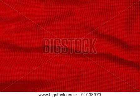 Red Textile Pattern As A Background.