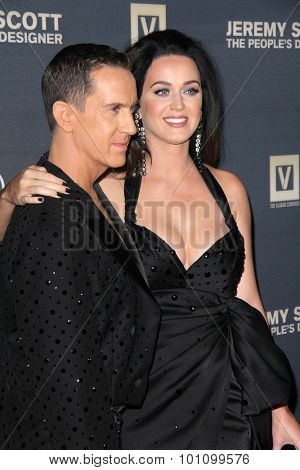 LOS ANGELES - SEP 8:  Jeremy Scott, Katy Perry at the