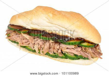 Shredded Duck Meat Sandwich