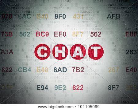 Web development concept: Chat on Digital Paper background