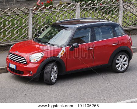 Red Mini Minor Car (2013 Version)