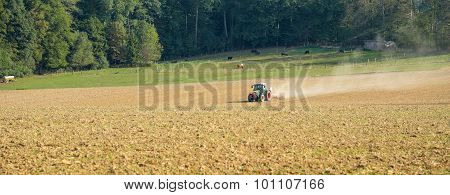 Field And Tractor