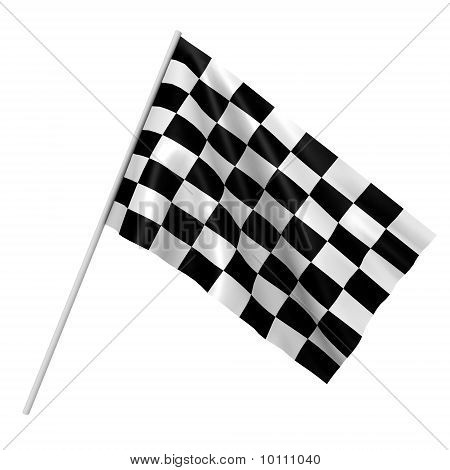 A checkered race flag - a 3d image
