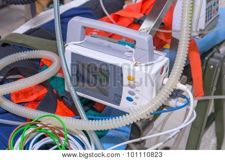 Defibrillator And Medical Equipments For Emergency Medical Service