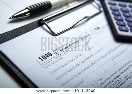 Filling Tax Return On Desktop