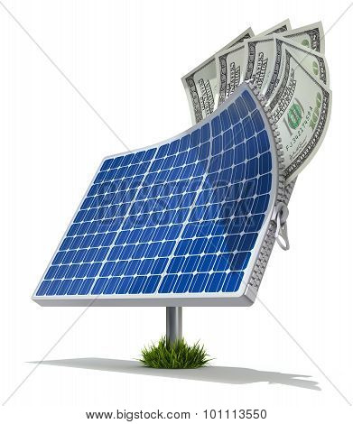 Solar energy saving concept