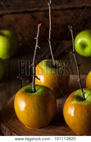 Homemade Green Caramel Apples