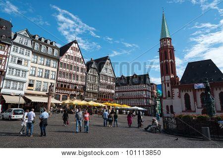 Famous Frankfurt Römerberg Square