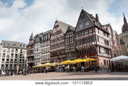 Famous Frankfurt Romerberg Square
