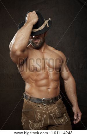 An image of a traditional bavarian muscle man