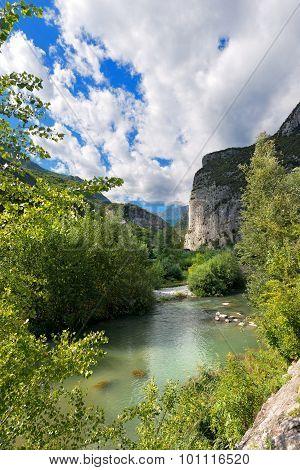Sarca River Near Sarche - Trentino Italy