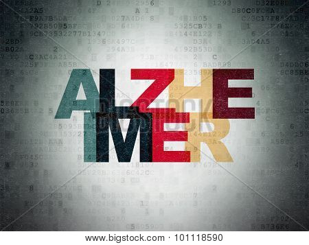 Health concept: Alzheimer on Digital Paper background
