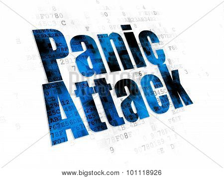 Medicine concept: Panic Attack on Digital background