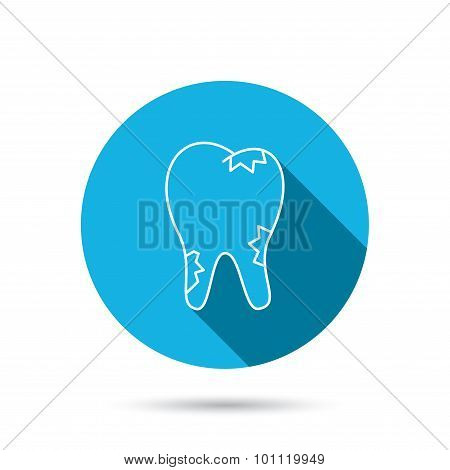 Cavity icon. Tooth health sign.