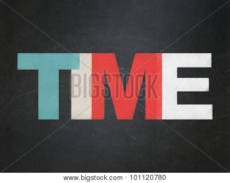 Time concept: Time on School Board background