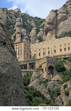 Abbey Santa Maria De Montserrat In Monistrol De Montserrat, Spain