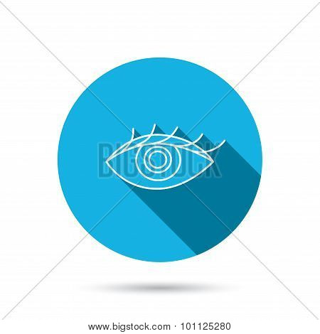 Eye icon. Human vision sign.