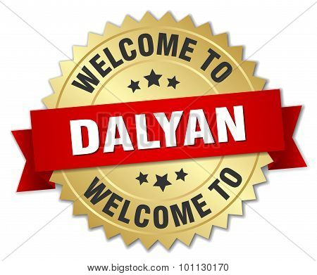 Dalyan 3D Gold Badge With Red Ribbon