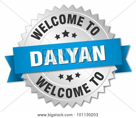 Dalyan 3D Silver Badge With Blue Ribbon