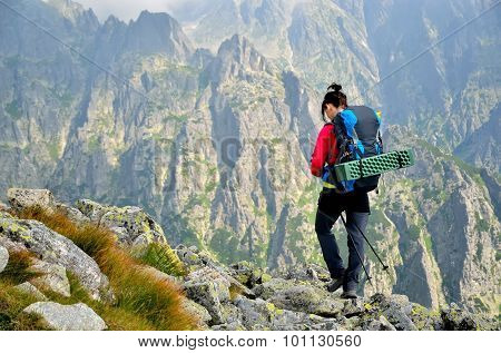 Hiker in the mountain.