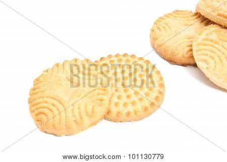 Some Delicious Cookies On White