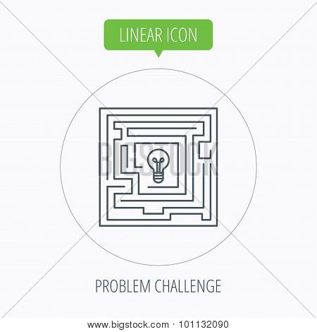 Labyrinth icon. Problem challenge sign.