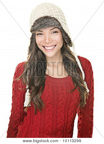Beautiful Winter Woman Portrait