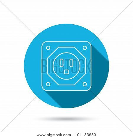 USA socket icon. Electricity power adapter.