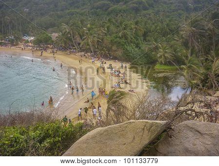 Tayrona Park Cabo San Juan Beach Aerial View