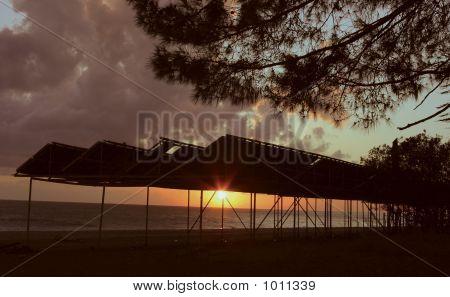 Sunset At Picunda Cape