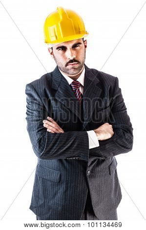 Helmet Businessman