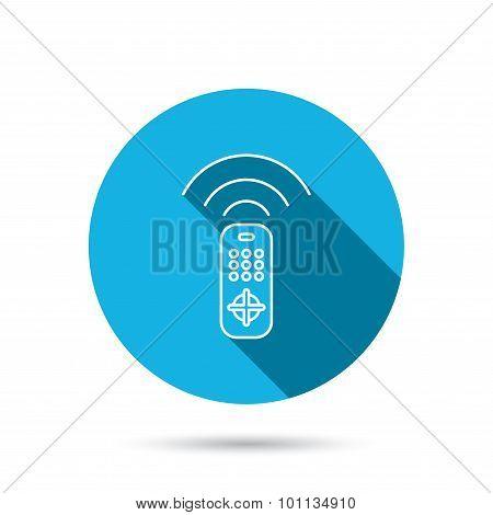 Remote control icon. TV  channels sign.